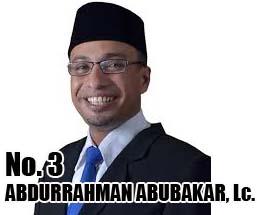 H. ABDURRAHMAN ABUBAKAR, Lc. Calon DPD 2014 Asal Provinsi Gorontalo No Urut 3