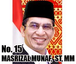 MASRIZAL MUNAF,  S.T, M.M Calon DPD 2014 Asal Provinsi Sumatera Barat No Urut 15
