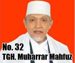 TGH. Muharrar Mahfuz Calon DPD 2014 Asal Provinsi Nusa Tenggara Barat No Urut 32