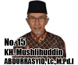 K.H. MUSLIHUDDIN ABDURRASYID, Lc., M.Pd.I. Calon DPD 2014 Asal Provinsi Kalimantan Timur No Urut 15