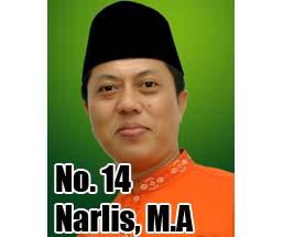Narlis, M.A Calon DPD 2014 Asal Provinsi Riau No Urut 14