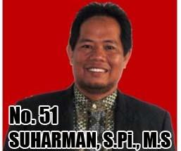 SUHARMAN, S.Pi., M.S Calon DPD 2014 Asal Provinsi Sulawesi Tenggara No Urut 51