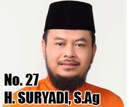 H. SURYADI, S.Ag Calon DPD 2014 Asal Provinsi Jambi No Urut 27