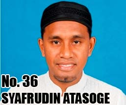 SYAFRUDIN ATASOGE  Calon DPD 2014 Asal Provinsi Nusa Tenggara Timur No Urut 36