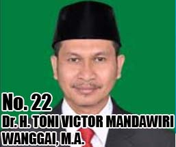 Dr. H. TONI VICTOR MANDAWIRI WANGGAI, M.A. Calon DPD 2014 Asal Provinsi Papua No Urut 22