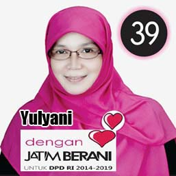 Yulyani Calon DPD 2014 Asal Provinsi Jawa Timur No Urut 39